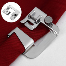 "Practical New Silver Sew Rolled Hem Press Foot Hemmer Foot 4/8""  Patchwork For Women Sewing Household Crochet Acessorios"