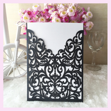 2017 Hot Sale New design greeting card laser cut paper wedding invitation cards unique design navy weddinng invitations cards(China)