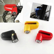 Free shipping New Motorcycle mountain Bike Bicycle Sturdy Wheel Safety Anti-theft Disc Brake Rotor moto lock Black/RED antivol