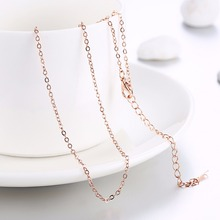 Women's 1.5mm rolo chain 18'' 45cm light style Chains necklace golden fashion jewelry section gift pouches free