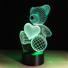Novelty 3D Table Lamps Bear Night Lights Abajur Nightlight LED Desk Lamp Luminaria Led Lava Lamp Children's Lighting Kids Gifts(China)