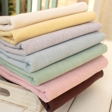 Partysu Space dye yarn-dyed fabric Plain colour , Cotton and linen Vintage Craft Workshop DIY Patchwork Cloth 4pcs/lot 50*70cm