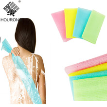 1PC Nylon Mesh Bath Shower Body Washing Clean Exfoliate Puff Scrubbing Towel Cloth Scrubber Soap Bubble For The Bath Like Loofah(China)