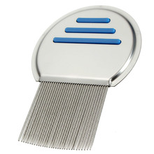 1Pcs Stainless Steel Terminator Lice Comb Nit Free Kids Hair Rid Headlice Super Density Teeth Remove Nits Comb