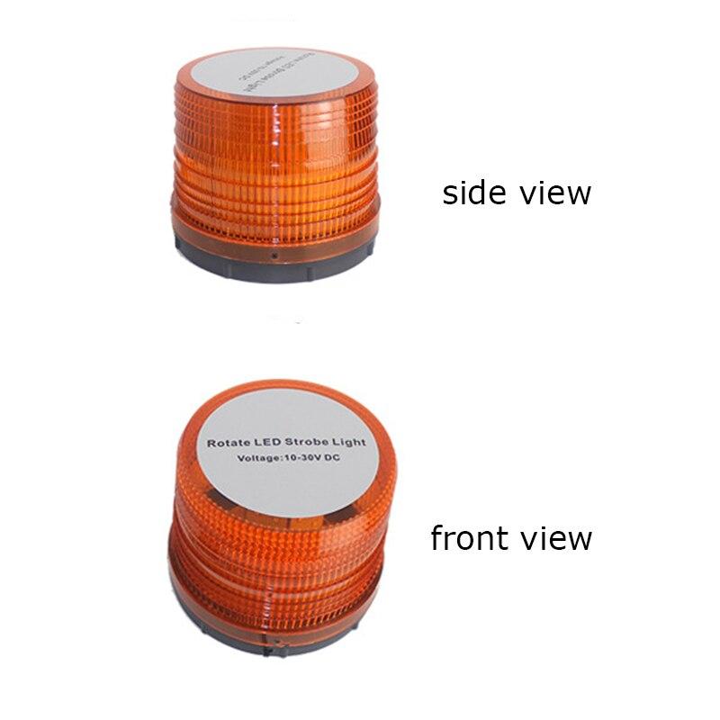 36W Amber Magnetic Beacon Light Fog Light Emergency Warning Strobe Yellow Red Blue Roof Round Beacon Night Light<br>