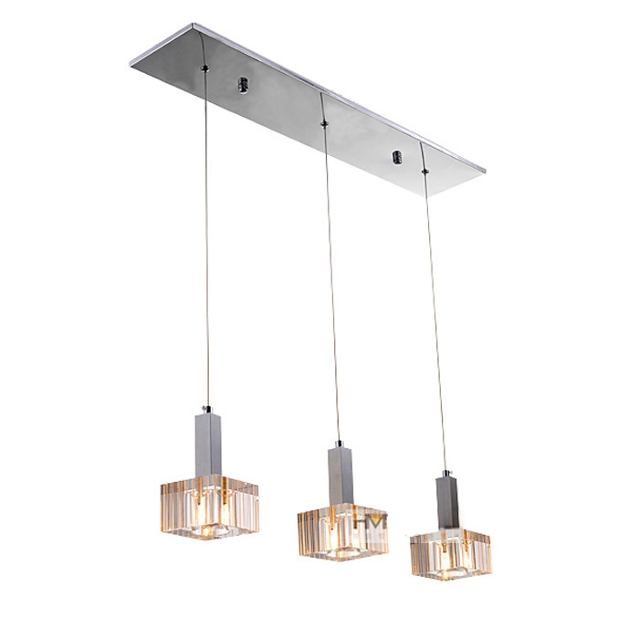 Modern Crystal Cubes Dining Room Pendant Lights Bar Counter Oblong Top Restaurant Pendant Lamp Study Room Hallway Pendant Lamps<br><br>Aliexpress