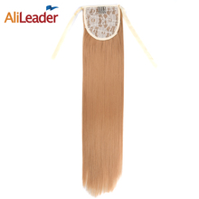 Alileader Synthetic Fake Hair Pony Tails 18 Inch Ponytails Hair Pieces Afro Drawstring Ponytail Clip In Hair Extension For Women