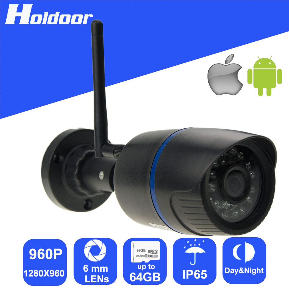 WiFi 960P 6.0mm Lens IP P2P Security Camera Micro SD Card Slot Video Record Email Alert motion detection alarm waterproof IP65<br>