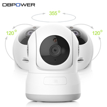DBPOWER HD 720P H 632KC 1.0MP IP Camera Pan&Tilt P2P Wifi Wireless Security Camera with Night Vision Micro SD Card slot ONVIF