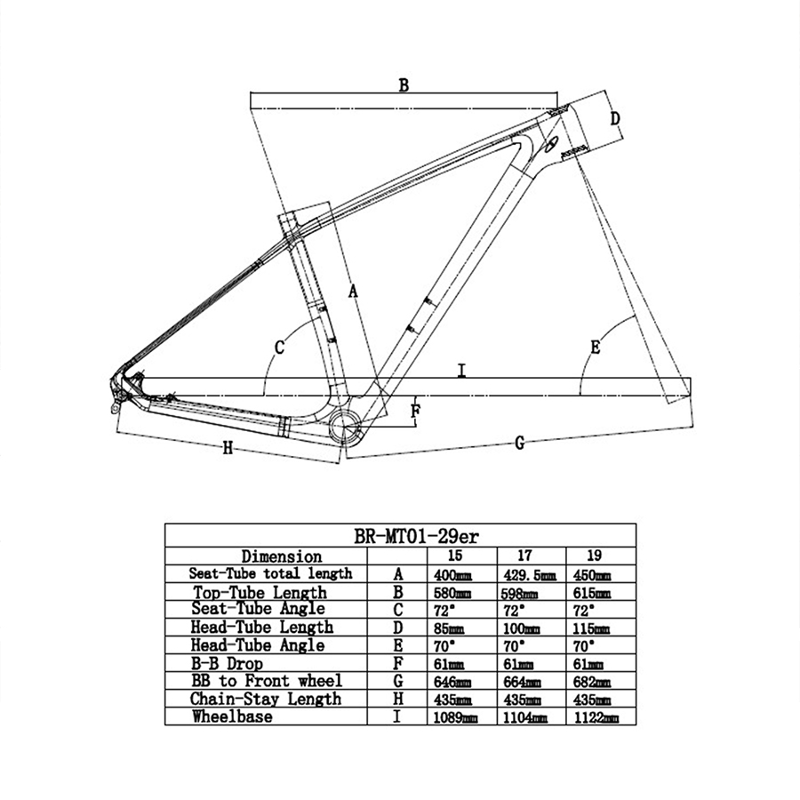 Konik mtb Çerçeve Karbon Çerçeve 29er 2018 Yeni Tasarım Çin bisiklet iskeleti 27.5er boyutu 15 17 19 inç disk fren Süper Hafif fra