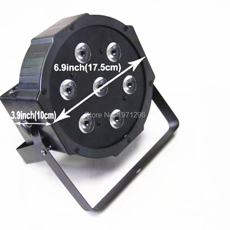 Led flat par can light7X9W rgb 3IN1 flat par led stage lighting DMX Stage Light<br>