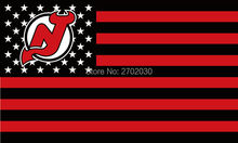New Jersey Devils Hockey Sports Team Star & Stripe US National Flag 3ft X 5ft Custom Banner With Sleeve Two Gromets 90*150CM