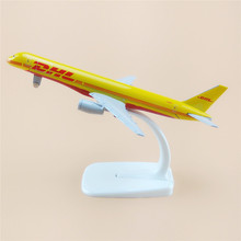 16cm Alloy Metal Air Air DHL Airlines Boeing 757 B757 Airways Plane Model Aircraft Airplane Model w Stand Crafts Gift(China)