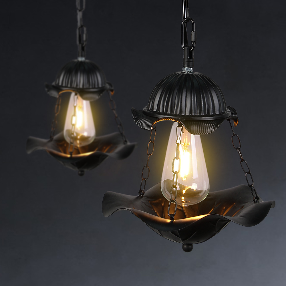 Loft Creative Industrial Vintage Pendant Lamps Iron Nostalgic Retro Double-deck Pendant Lights For Cafe Bar Restaurant <br>