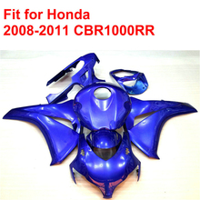100% fit for HONDA injection mold CBR1000RR fairings 2008-2011 all blue ABS fairing kit CBR 1000 RR 08 09 10 11 RT24(China)
