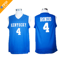 Cheap Retro Rajon Rondo Basketball Jerseys 4# Kentucky Wildcats Throwback Stitched Commemorative High Quality Shirts For Men(China)