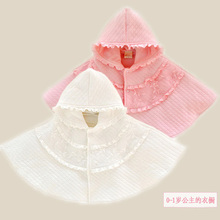2017 Baby Girls Cloak Coat Infant Princess Lace Cotton Hooded Outerwear Toddler Ponchos Kid Dress Smock Cape Cope Manteau Mantle