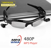 VENYASOL with Mp3 Play Player Smart Sunglasses  Mini Glasses Camera Video Recorder Camcorder Cam for Outdoor Sport Driving