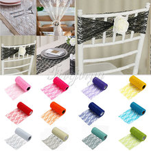 "Tulle Roll Spool Lace Roll 6""x10Yards DIY Netting Fabric for Tutu Skirt Wedding Event Party Chair Sash Bow Table Runner(China)"