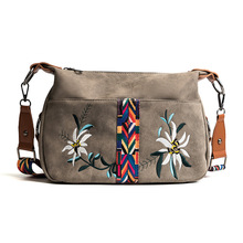 Good Brand 100% export PU Leather Embroidery Colorful Strap Shoulder Bags Designer Handbags High Quality for women(China)
