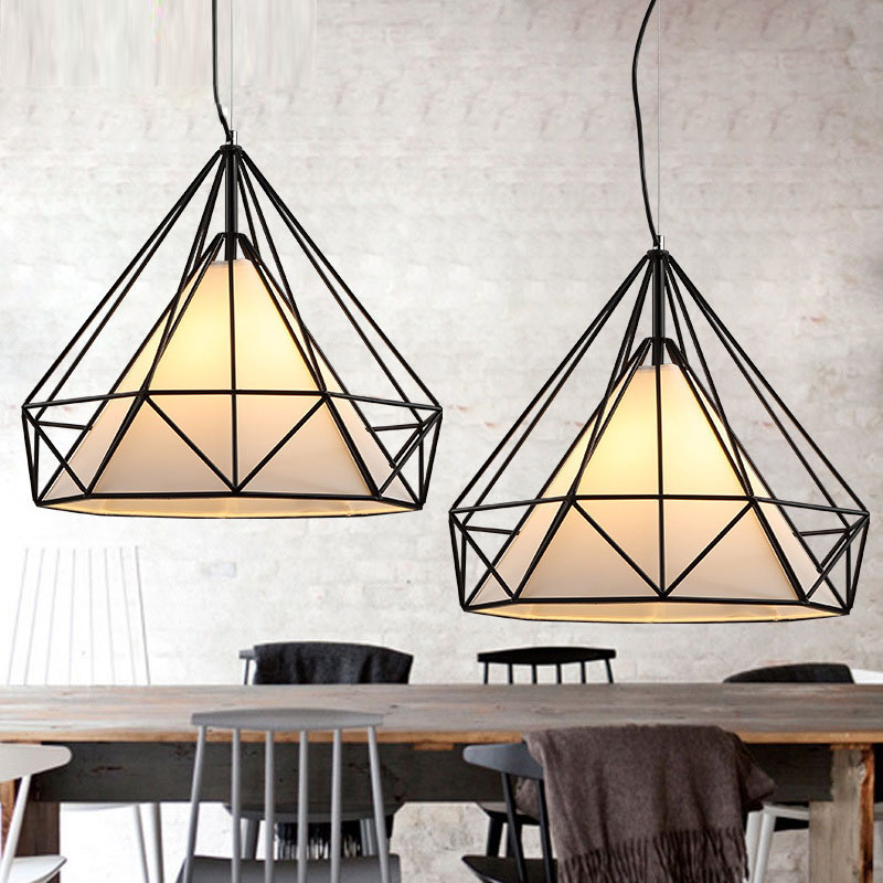 Modern American Countryside Pendant Lights Retro Single Head Pendant Lamps for Restaurant/Dining Room E27 110V 220V Home Decor<br>