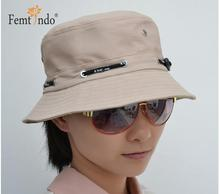 Plain Color Cotton Safari Hats Chapeu Men Women Fisherman Hip Hop Bucket hat(China)