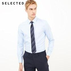 Отборная хлопковая рубашка с v-образным вырезом и длинными рукавами в деловом стиле   418105543