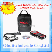 DHL Free 2017 MD801 code reader Autel pro MD801 maxidiag 4 in 1 scan tool MD 801 scanner(JP701 + EU702 + US703 + FR704)