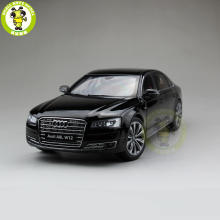 1/18 Audi A8L W12 2014 Diecast Metal Model Car Toy Kyosho 09232 Gift Hobby Collection Black(China)