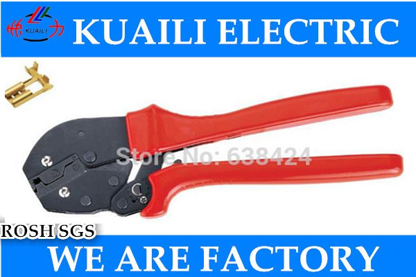 1PCS AP-056FL New Generation of Energy Saving Crimping Pliers 0.5-1.5/1.5-2.5mm2 20-13AWG Flag Type Receptacles Free shipping<br>