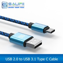SAUFII Type C Cable for Oneplus 2 ZUK Z1 Z2 USB 3.1 Type C USB-C Cable USB Data Sync Charge Cable for NEXUS 5X 6P for M10 P9 2M