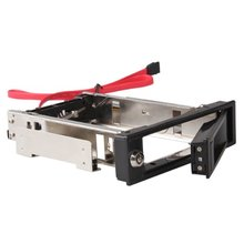 "PROMOTION! 3.5"" SATA HDD Rom Hard Drive Disk Aulminum Mobile Rack(China)"