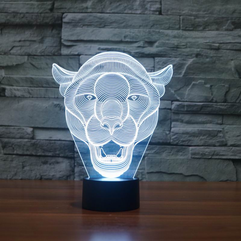Lion Face 3D LED Light 5