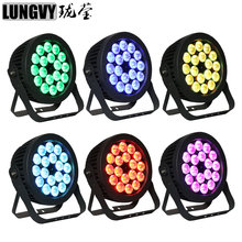 Free Shipping 6pcs/Lot Waterproof IP65 RGBWA UV 18*18w 6in1 Stage Light Outdoor Led Par Light DMX512 Effect