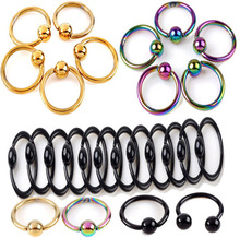 2 PCS Colorful Fake Nose Ring Lip Ear Nose Clip On Fake Piercing Nose Lip Hoop Rings Earrings Rose Ball body  European jewelry