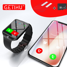 GETIHU Smart Watch DZ09 Digital Wrist with Men Bluetooth Electronics SIM Card Sport Smartwatch For iPhone Samsung Android Phone(China)