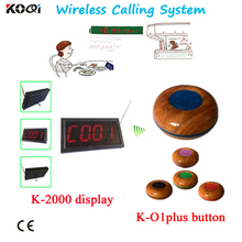 Nice Design Electronic Wireless Transmission System Waiter Calling Bell wireless table bell Restaurant Communication System