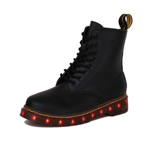 Free Shipping Led Shoes Men Valentine Fashion USB Rechargeable Light Up For Adults 7 Colors Luminous Men LED Shoes