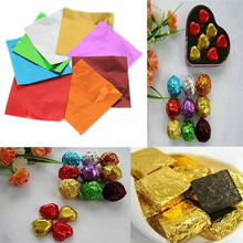 200pcs Sweets Candy Package Foil Paper Chocolate Lolly Foil Wrappers Square  7GA01