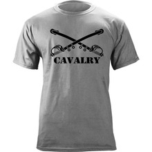 2017 New Fashion Brand T shirt logo US Army Cavalry Branch Insignia Crossed Sabers Veteran Graphic Hip Hop Tops T-shirt