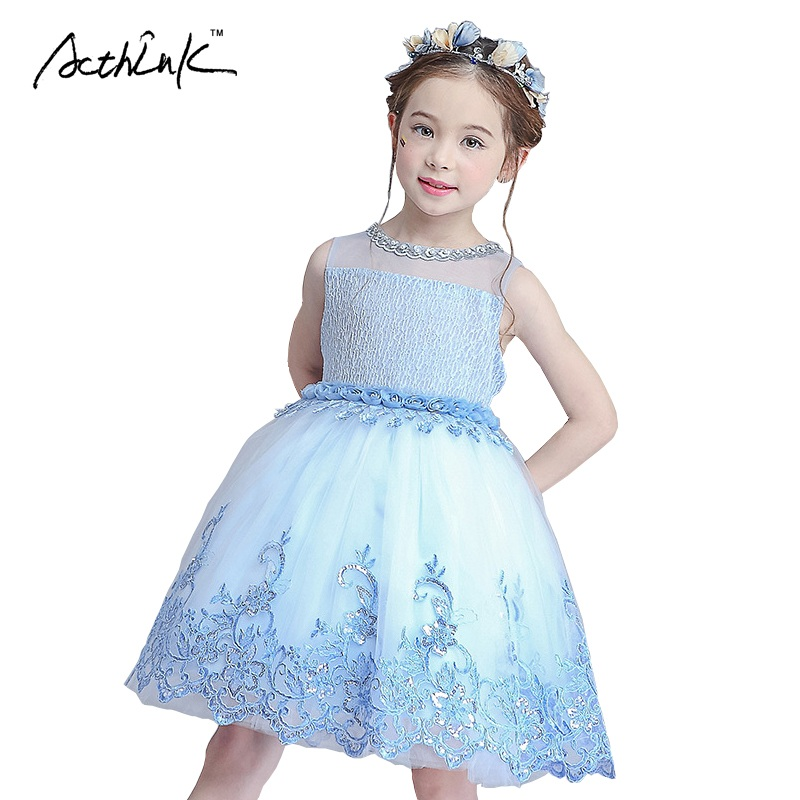 ActhInK Kids Formal Party Dresses Embroidery Flower Wedding Dress for Girls Princess Costume Lace Tulle Performance Dress, MC005<br><br>Aliexpress