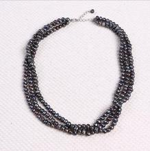 1102+++5-6mm Multilayer fashion natural freshwater pearl necklace jewelry manufacturers selling(China)