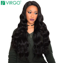 V Only Virgo Peruvian Body Wave Human Hair Weave Bundles Non-remy Hair Extensions One Piece Natural Black Can Be Dyed