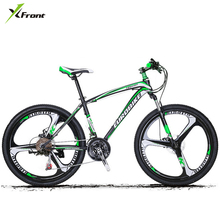 New brand 26*17 inch 21/27 speed carbon steel frame one pc wheel disc brake mountain bike outdoor downhill bicicleta MTB bicycle(China)