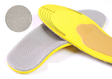 NO1451-1478 New sport insole black Unisex Orthotic Arch Support Shoe Pad Sport Running Gel Insoles Insert Cushion size 36-44
