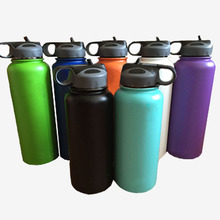 Flask Tumbler Coffee-Cooler Travel-Mug Logo Water-Bottle-Wide-Mouth Stainless-Steel Insulated