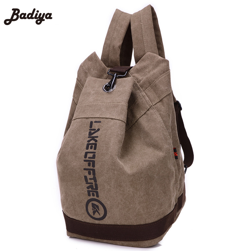 Bucket Travel Backpack For Men Large Capacity Women Vintage Canvas Backpacks Casual School Bag Male Schoolbag<br><br>Aliexpress