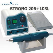 Dental Lab Micromotor Strong 206+103L handpiece Denture carving machine jade carving machine