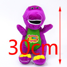 "Barney & Friends Barney Sing"" I LOVE YOU"" song Plush Toys Soft Stuffed Animal Dolls Gifts for Children 12inch 30cm(China)"