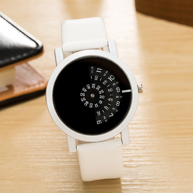 17 BGG creative design wristwatch camera concept brief simple special digital discs hands fashion quartz watches for men women 24